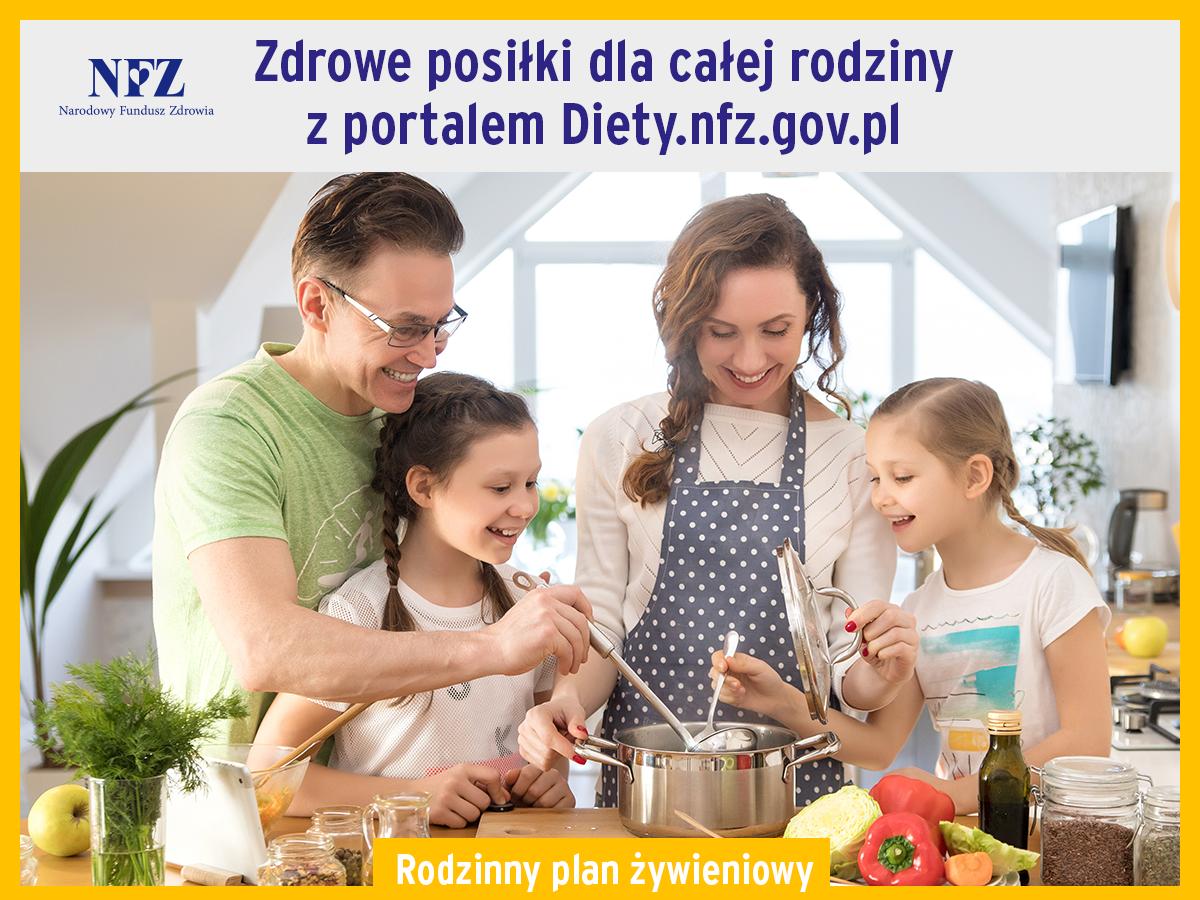 Ilustracja do informacji: Komunikat w sprawie rodzinnego planu żywieniowego #DietyNFZ