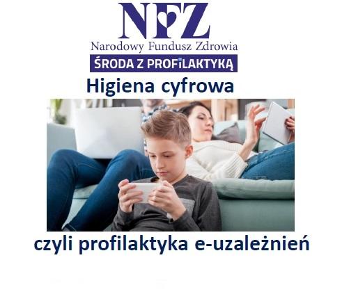 Ilustracja do informacji: Środa z profilaktyką - higiena cyfrowa - czyli profilaktyka e-uzależnień