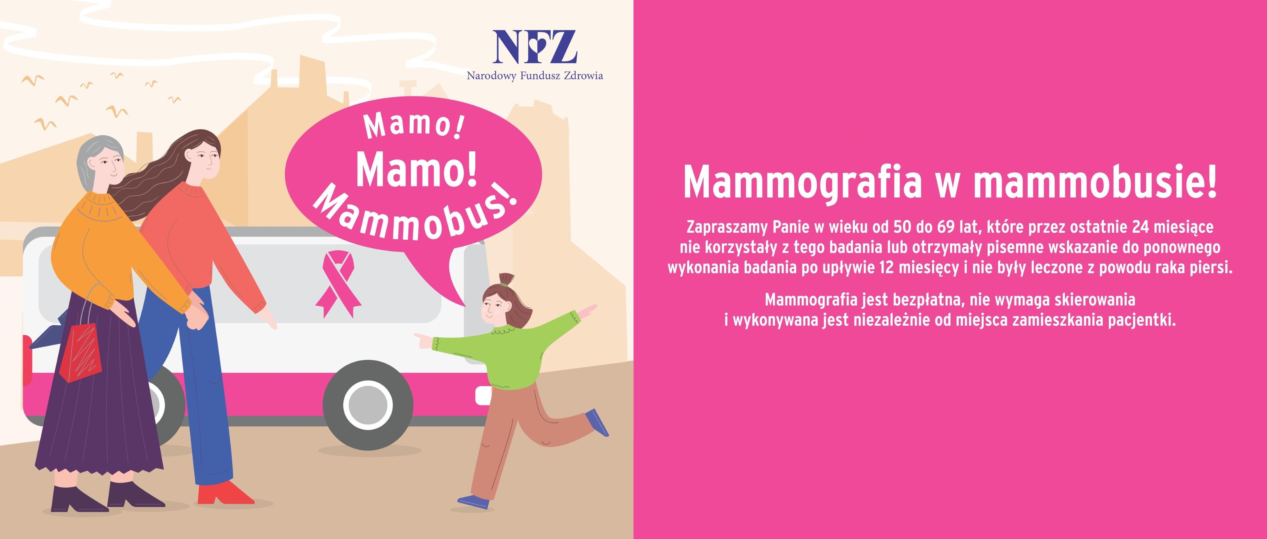 Ilustracja do informacji: Mamo! Zbadaj się w mammobusie!