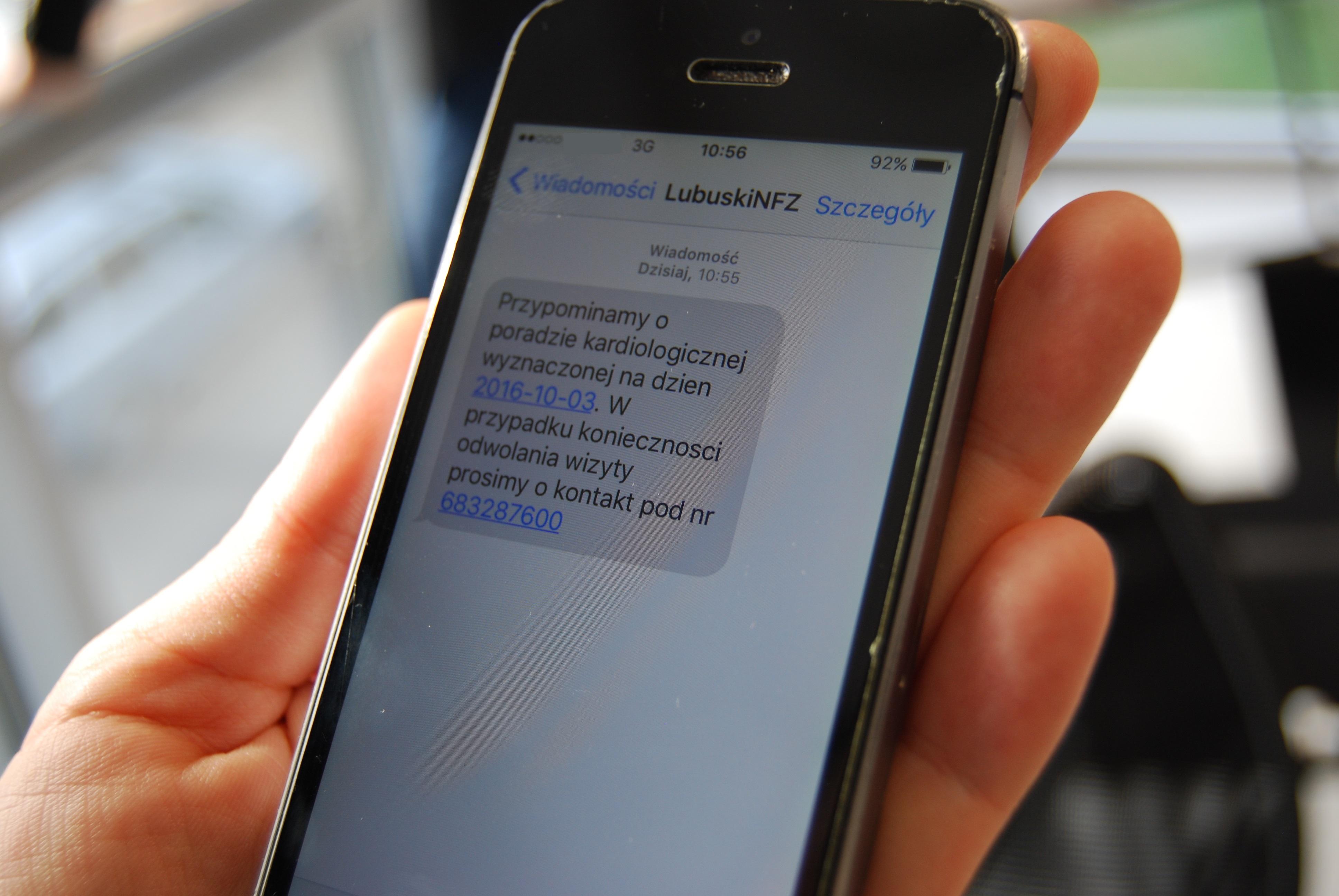 Ilustracja do informacji: Przypomnienie SMS dla Pacjenta