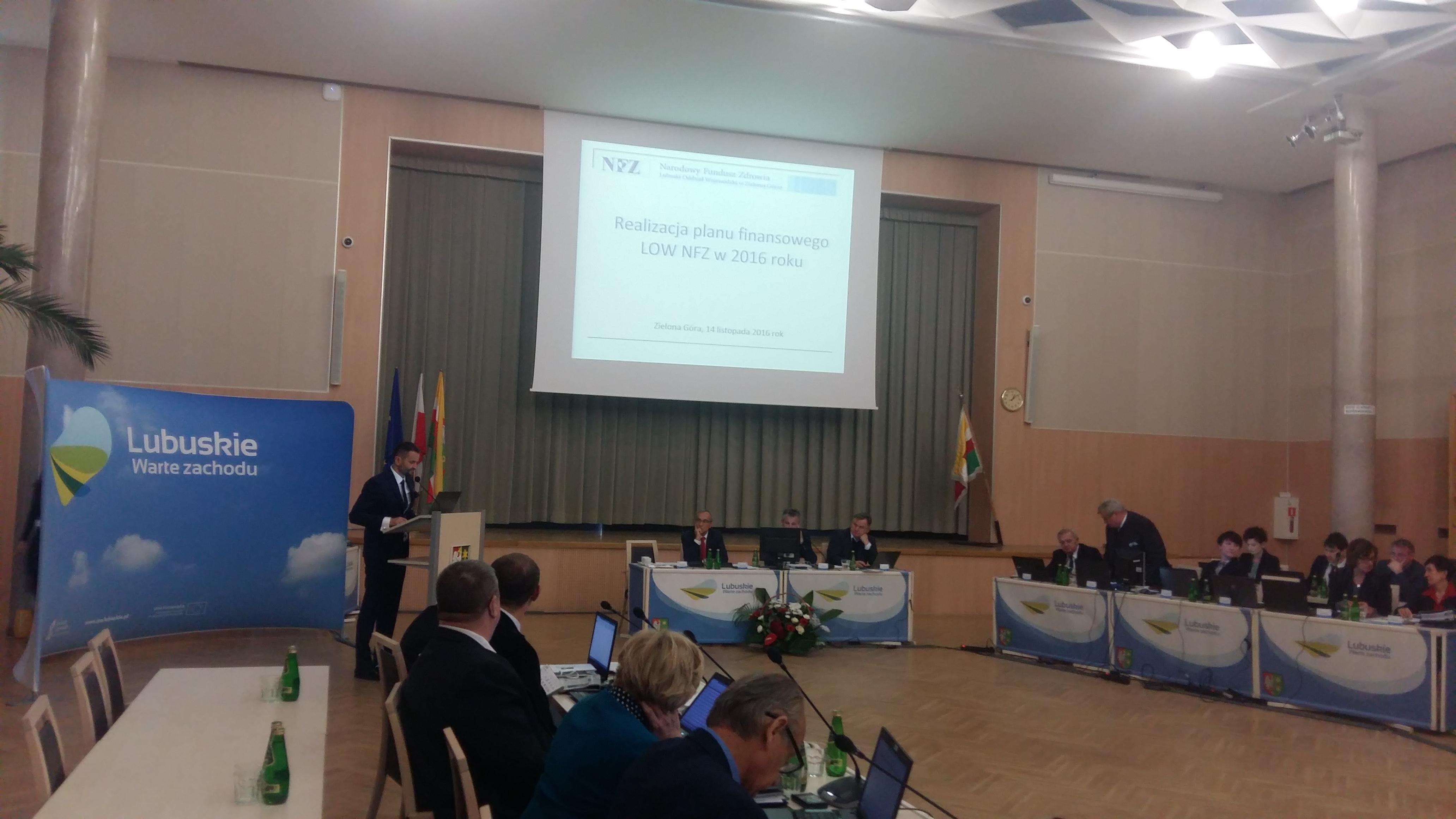 Ilustracja do informacji: LOW NFZ na XXV sesji sejmiku województwa lubuskiego