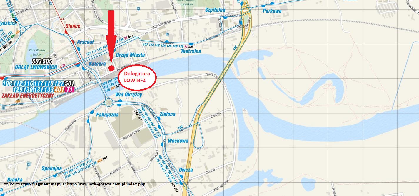Ilustracja do informacji: Zmiana lokalizacji siedziby Delegatury LOW NFZ