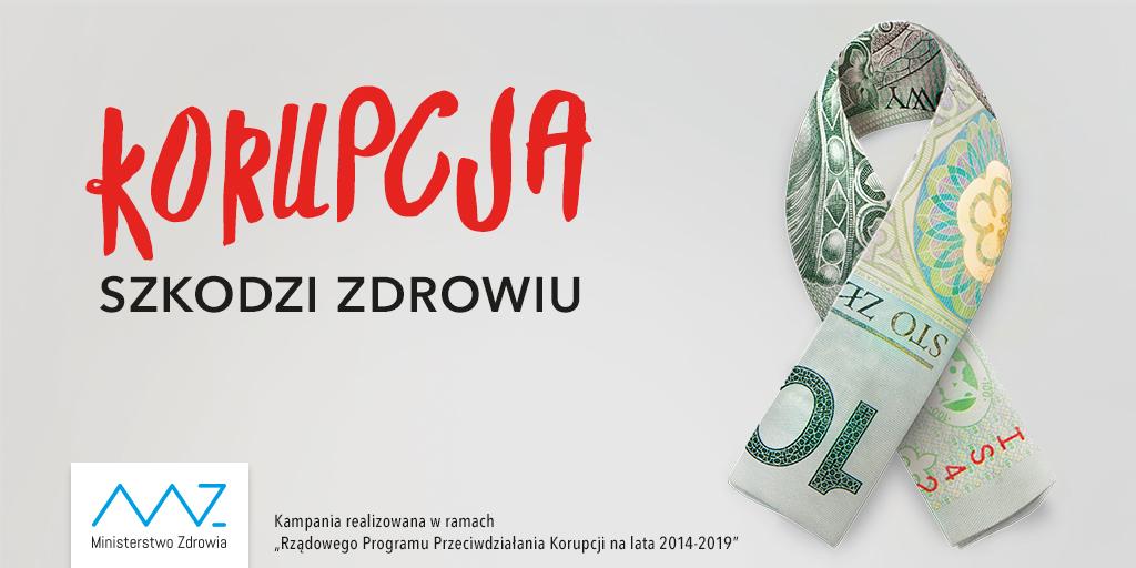 Baner: korupcja szkodzi zdrowiu