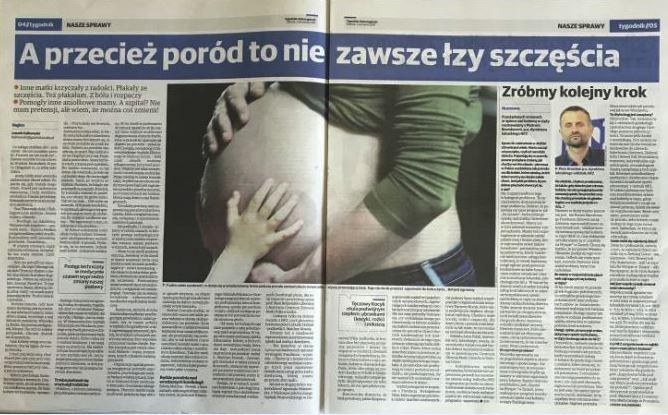 """Ilustracja do informacji: """"A przecież poród to nie zawsze łzy szczęścia"""" artykuł w Gazecie Lubuskiej oraz wywiad z p.o. Dyrektora LOW NFZ Piotrem Bromberem """"Zróbmy kolejny krok""""."""