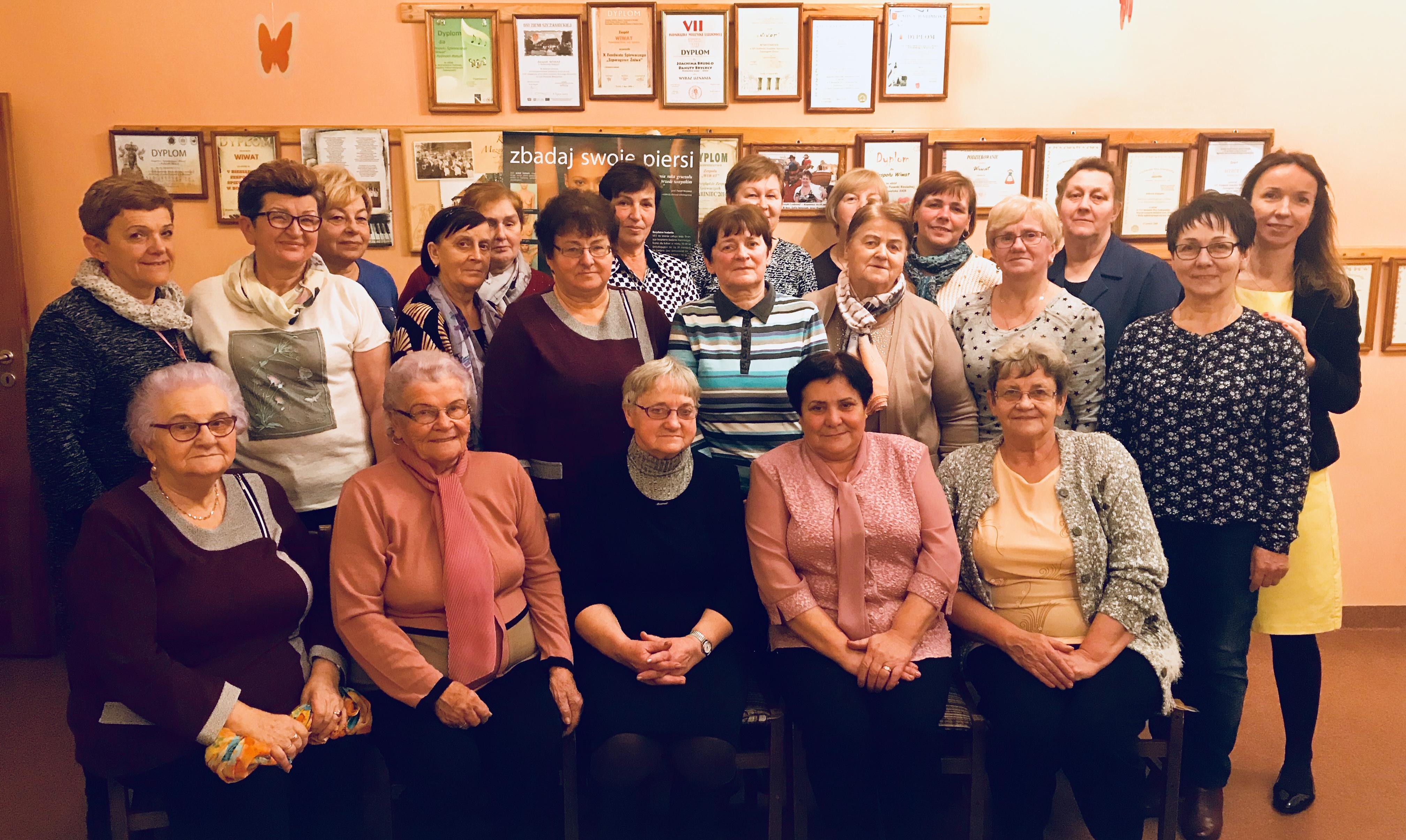 Ilustracja do informacji: Spotkanie na temat profilaktyki zdrowotnej kobiet w Kole Gospodyń Wiejskich w Podmoklach Małych