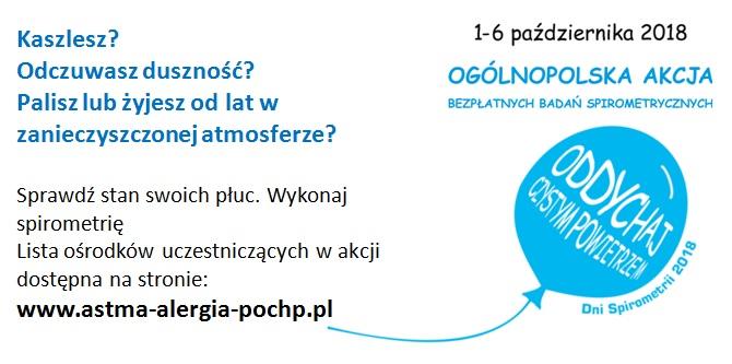 Ilustracja do informacji: Ogólnopolska Akcja Bezpłatnych Badań Spirometrycznych