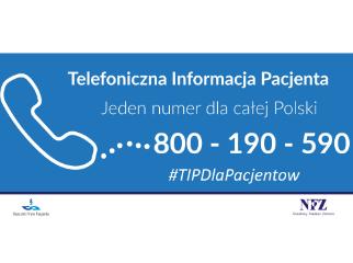 Ilustracja do informacji: 800 190 590 - Telefoniczna Informacja Pacjenta