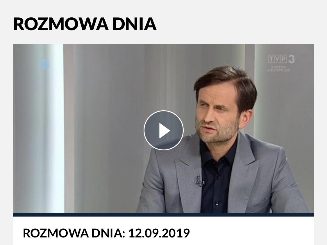 """Ilustracja do informacji: Piotr Bromber Dyrektor LOW NFZ był gościem w programie """"Rozmowa dnia"""""""