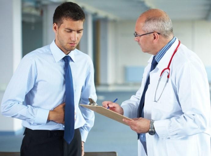 Ilustracja do informacji: Mężczyźni u lekarza