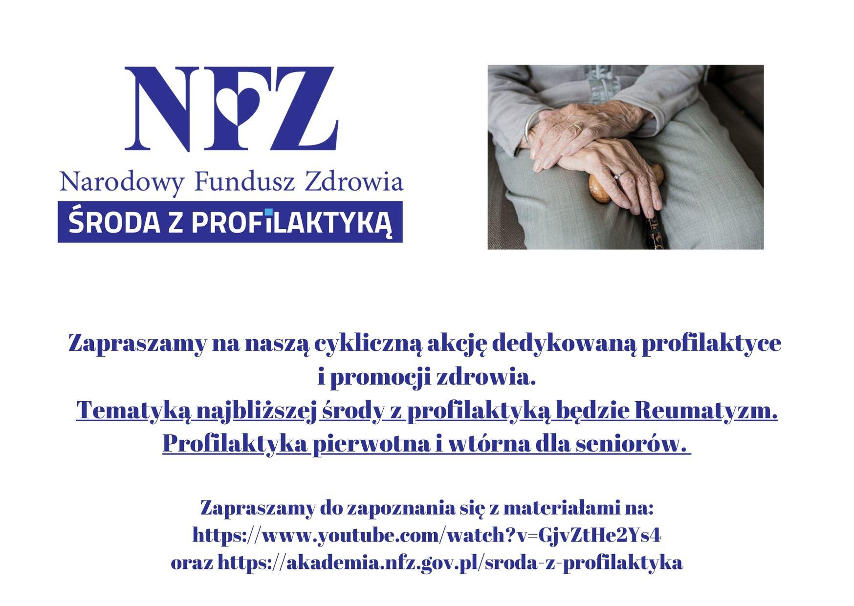 Ilustracja do informacji: Środa z profilaktyką - Reumatyzm. Profilaktyka pierwotna i wtórna dla seniorów.