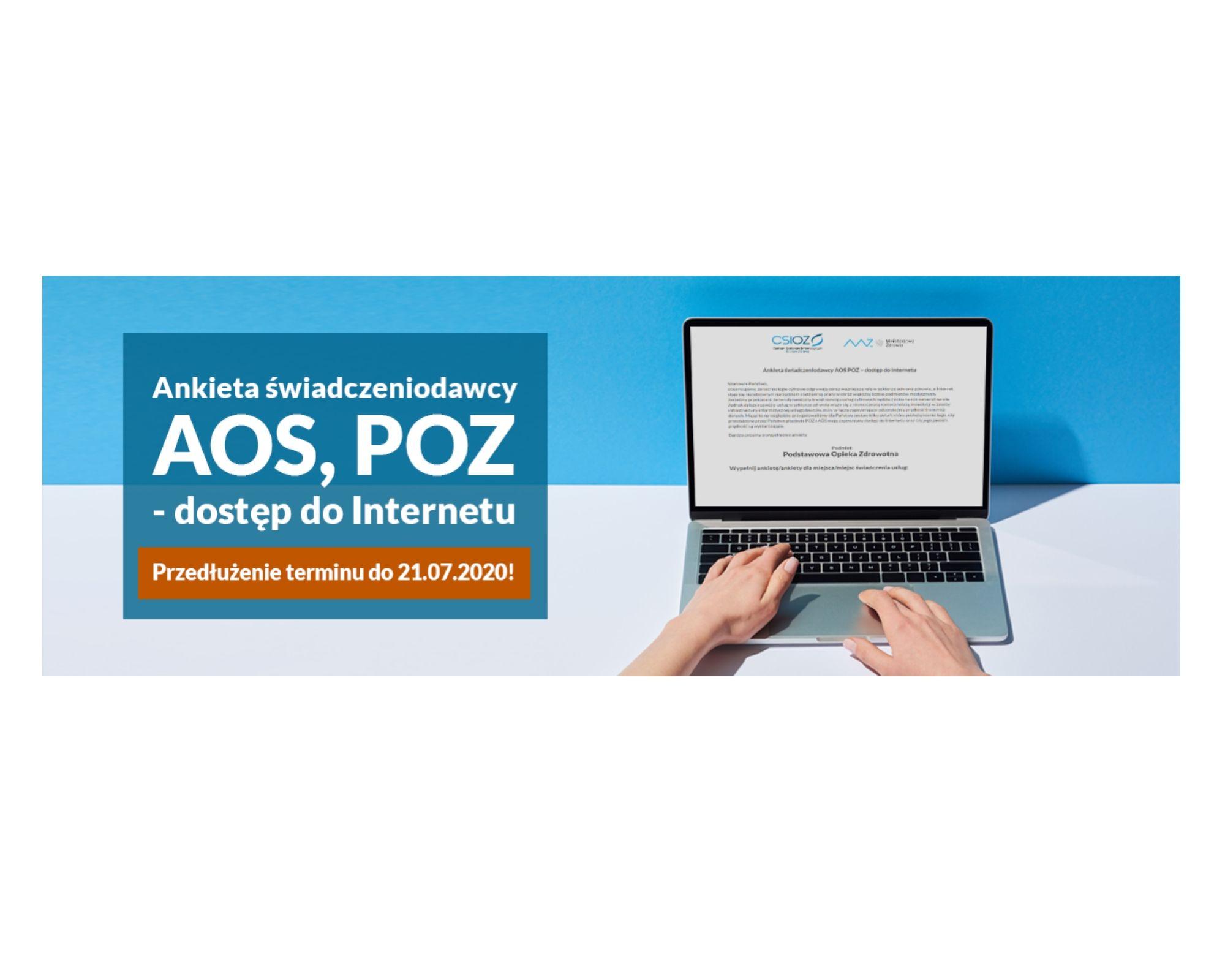 Ilustracja do informacji: Wydłużenie terminu przesyłania ankiet dot. jakości i prędkości internetu w POZ i AOS