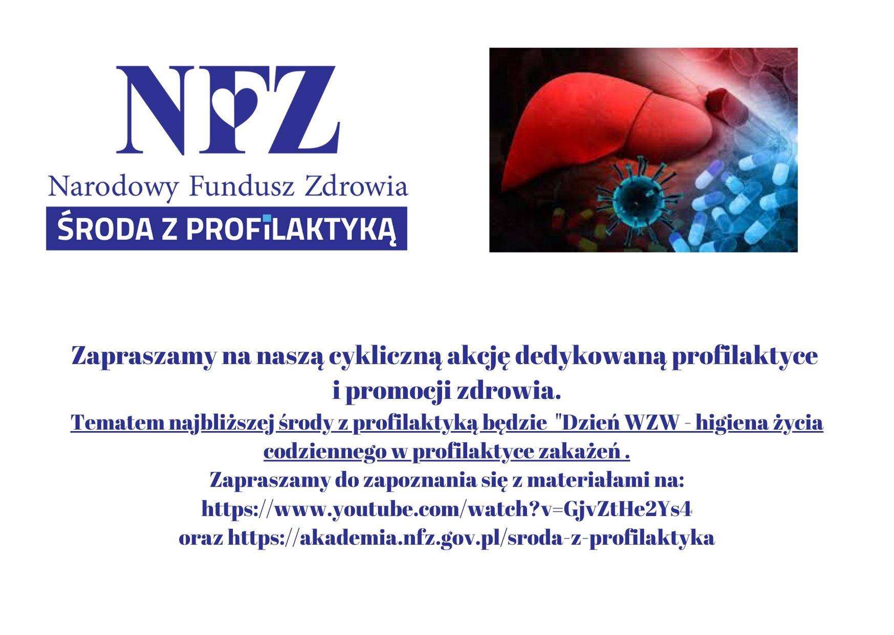 Ilustracja do informacji: Środa z profilaktyką - Dzień WZW - Higiena życia codziennego w profilaktyce zakażeń